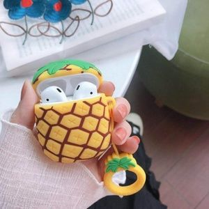 NEW Pineapple Airpods Silicone Case W/Ring Strap